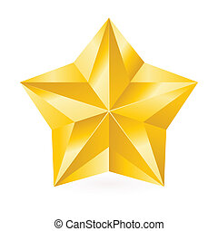 brilhante, estrela, ouro