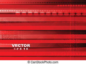 brilhante vermelho, tech, vetorial, fundo