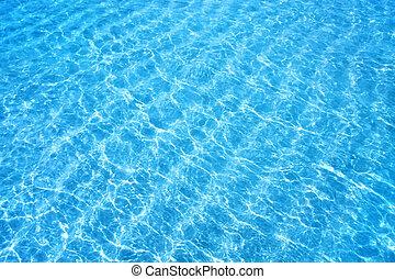 brilhar, água azul, ondulação, fundo