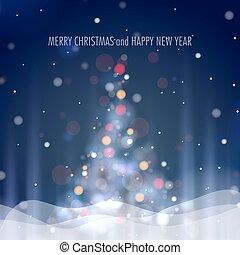 brilhar, árvore natal