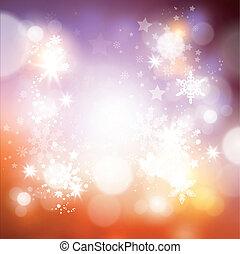 brilhar, fundo, natal