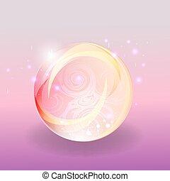 brilhar, magia, cor-de-rosa, abstratos