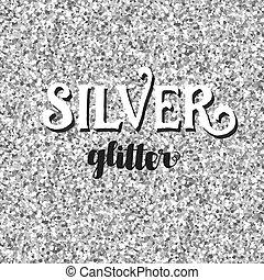 brilhar, seamless, fundo, prata