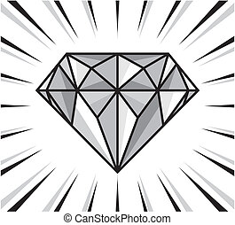 brilho, diamante