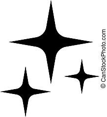 brilho, estrela, vetorial, ícone