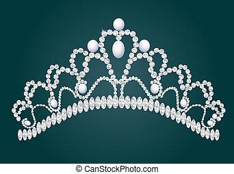 briliance, weiblich, diadem, wedding