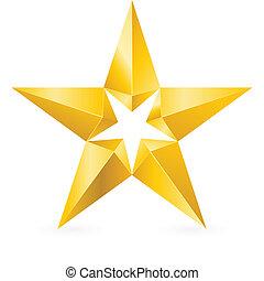 brillant, étoile, or