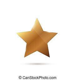 brillant, étoile, or, illustration