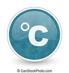 brillant, blu, web, cristallo, centigrado, disegno, icon., ...