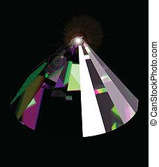 brillant, clair, vecteur, crystal.