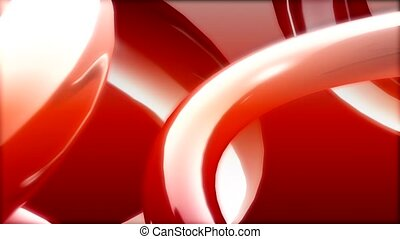 brillant, couler, rouges