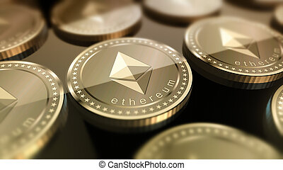 brillant, fond, ethereum, crypto-currency