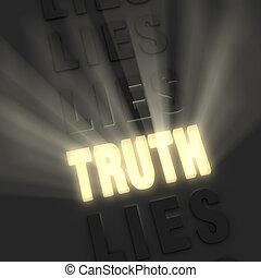 brillant, mensonges, vérité, pâle