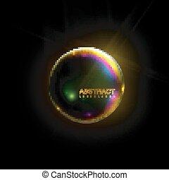 brillant, sphere., iridescent