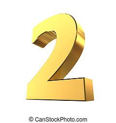 brillante, 2, -, número, oro