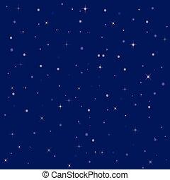 brillante, agradable, cielo, estrellas, noche