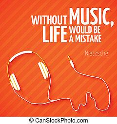brillante, auriculares, música, papel pintado, plano de ...