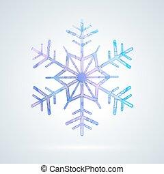 brillante, colorido, hielo, copo de nieve