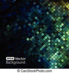 brillante, colorido, mosaico, plano de fondo