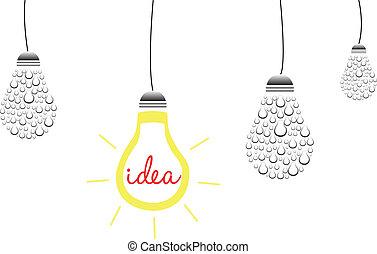 brillante, concetto, idea