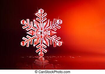 brillante, copo de nieve