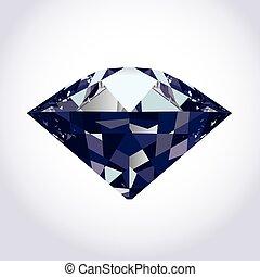 brillante, diamante, vettore