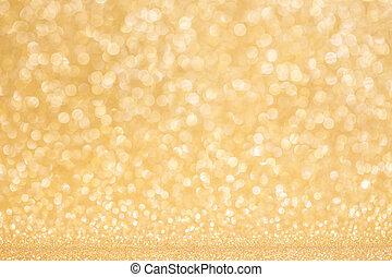 brillante, dorado, luces, plano de fondo