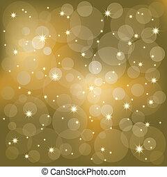 brillante, estrellas, luz, plano de fondo