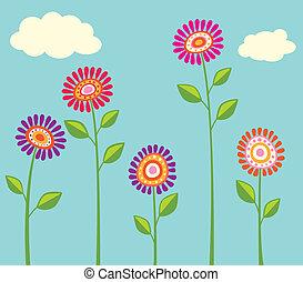 brillante, flor, colección