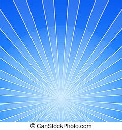 brillante, fondo azul