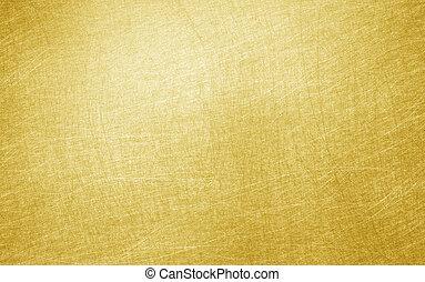 brillante, hojuela, hoja, amarillo, oro