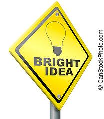 brillante, innovación, idea, eureka
