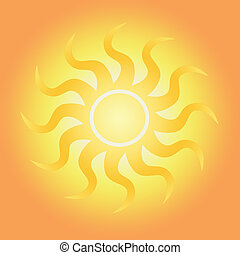 brillante, luz del sol