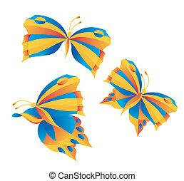 brillante, mariposas