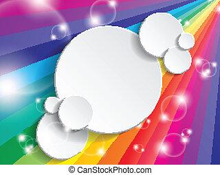 brillante, multicolor, plano de fondo, con, espacio, para,...