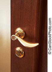 brillante, nuovo, serratura