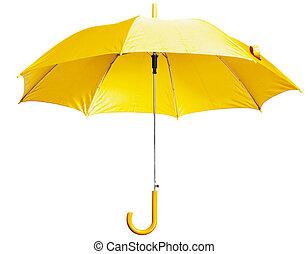 brillante, paraguas, amarillo