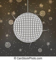 brillante, pelota club, en, resumen, bokeh, plano de fondo, eps10