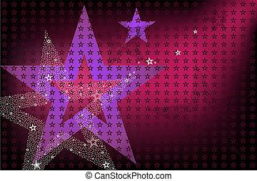 brillante, plano de fondo, estrellas, disco