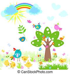 brillante, primavera