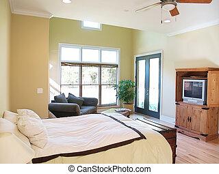brillante, rústico, dormitorio