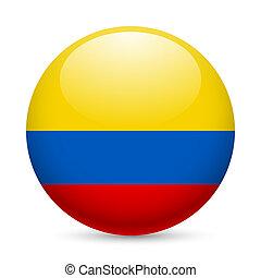 brillante, redondo, colombia, icono