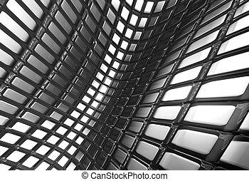 brillante, resumen, aluminio, cuadrado, patrón, plano de fondo