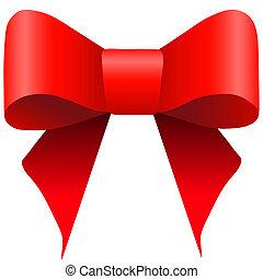 brillante rosso, arco regalo