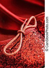 brillante, sparkly, zapatos rojos