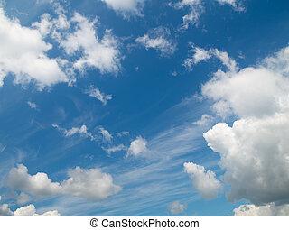 brillante, vasto, cielo azul