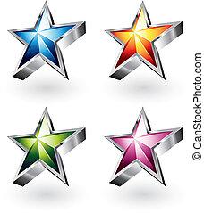 brillante, vector, estrella