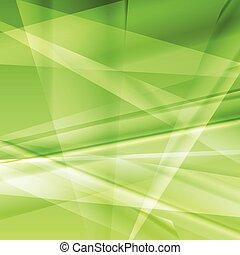 brillante, vector, extracto verde, plano de fondo