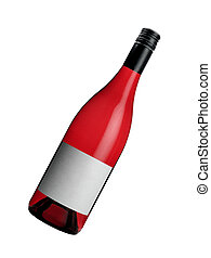 brillante, vino rojo, botella