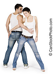 brillantemente, coppia, bello, giovane, immagine